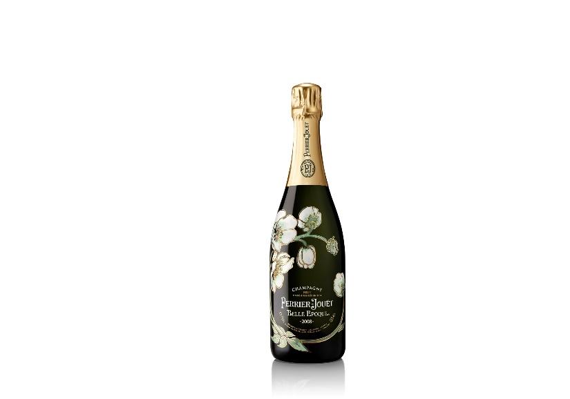 Champagner Perrier Jouet Belle Epoque mit Glas