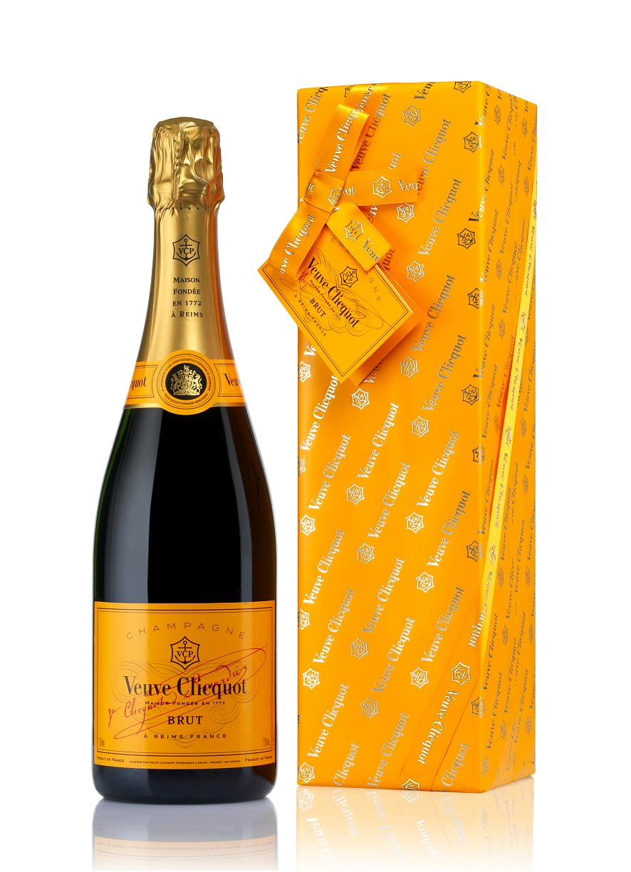 Veuve Clicquot brut Champagner Geschenkpackung