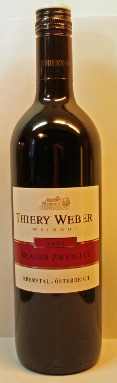 Thiery-Weber Kremser Sandgrube Blauer Zweigelt